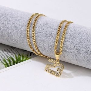 Other - Jordan 23 Jersey Iced Out Gold Chain Necklace B30